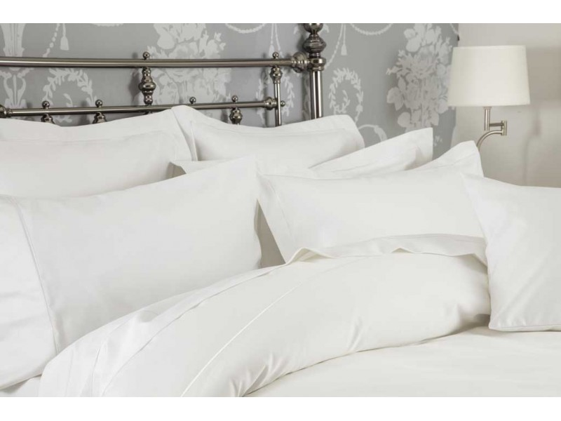 Belledorm Hotel Suite 1200 Cotton Sateen White Pillowcases