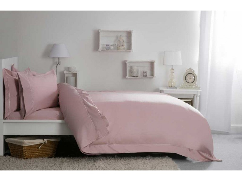 Belledorm 400 Thread Count Egyptian Blended Cotton Blush Pillowcases