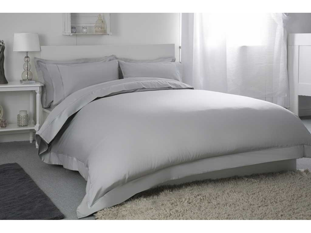 "Belledorm 400 Thread Count Egyptian Cotton 15"" Platinum Fitted Sheets"