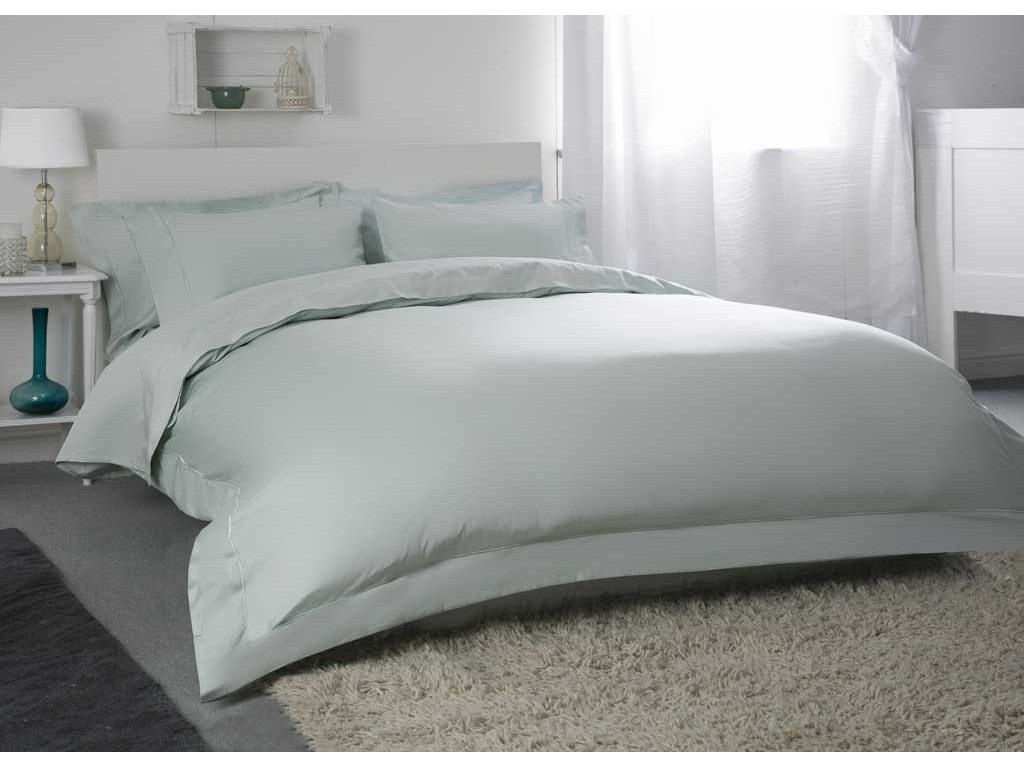 "Belledorm 400 Thread Count Egyptian Cotton 12"" Thyme Fitted Sheets"