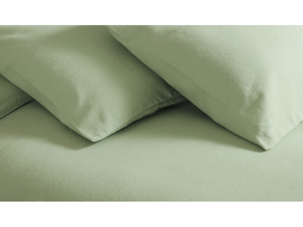 Belledorm New Brushed Cotton Apple Green Flat Sheets