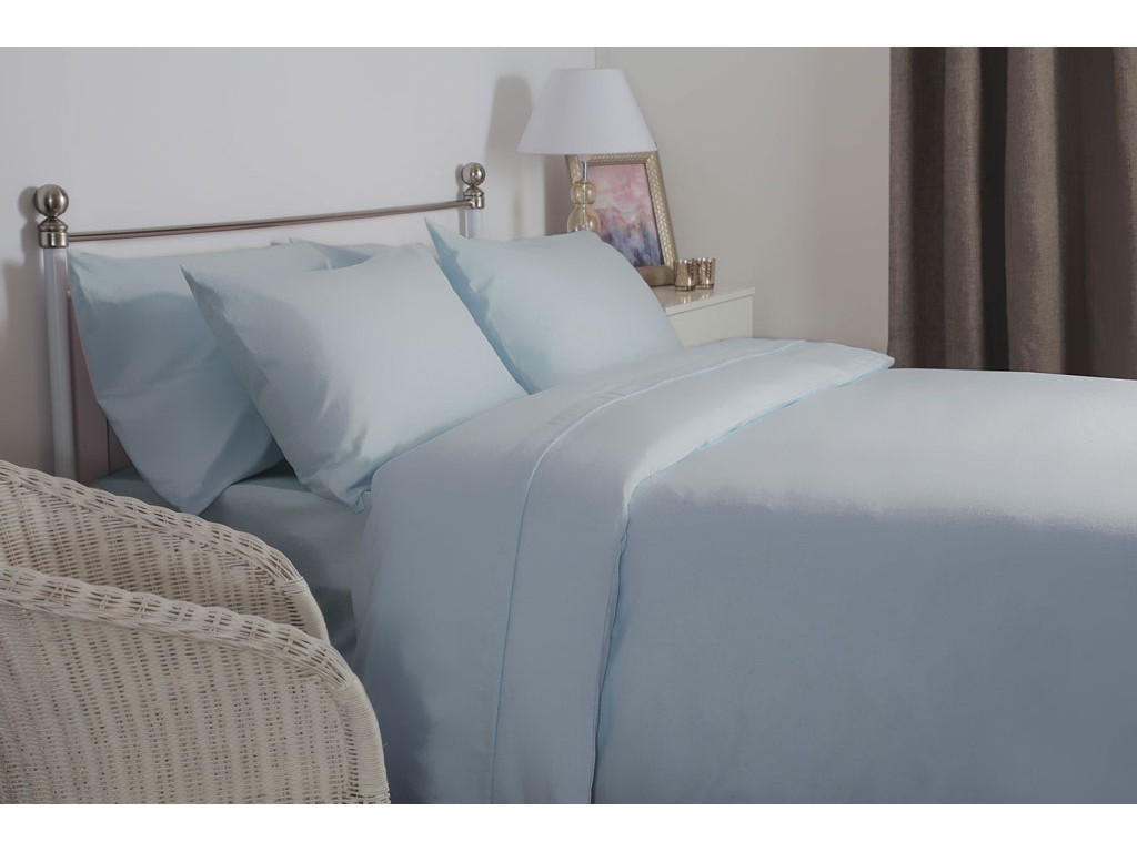 Belledorm New Brushed Cotton Blue Extra Deep Fitted Sheets