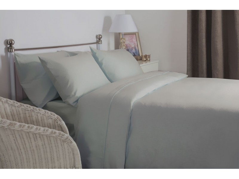 Belledorm New Brushed Cotton Grey Extra Deep Fitted Sheets