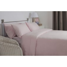 Belledorm New Brushed Cotton Powder Pink Flat Sheets