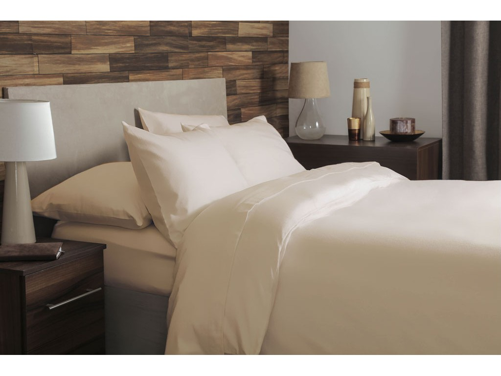 SUPER KING SIZE CREAM 100/% BRUSHED COTTON FLANNELETTE FITTED SHEET DEEP SKIRT