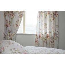 Country Dream Cherry Blossom Curtains with Tie Backs