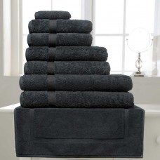 Belledorm Hotel Suite Madison 600gsm Black Cotton Towels and Mat