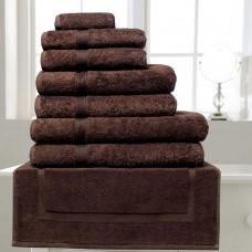 Belledorm Hotel Suite Madison 600gsm Chocolate Cotton Towels and Mat