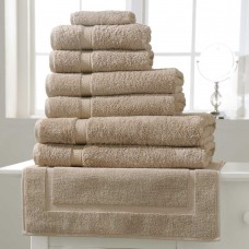 Belledorm Hotel Suite Madison 600gsm Pebble Cotton Towels and Mat