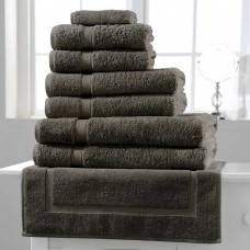 Belledorm Hotel Suite Madison 600gsm Slate Cotton Towels and Mat
