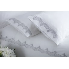 Maison Blanche Annaya Silver Embroidered Duvet Cover Sets