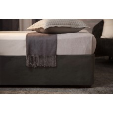 Belledorm Luxury Suede Divan Base Wrap Black