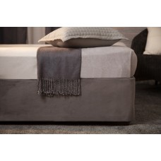 Belledorm Luxury Suede Divan Base Wrap Charcoal