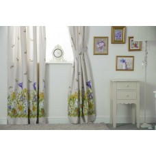 Country Dream Bluebell Meadow Lined Curtains with Tie Backs