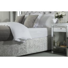 Belledorm Crushed Velvet Silver Divan Base Wrap