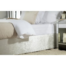 Belledorm Crushed Velvet Champagne Divan Base Wrap
