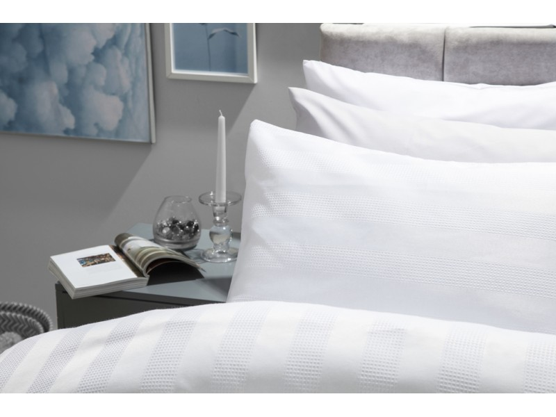 Belledorm Newbury Cotton Rich Jacquard White Duvet Cover Sets