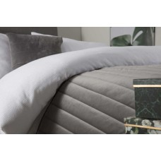 Belledorm Verona Charcoal Bed Runner and Cushion