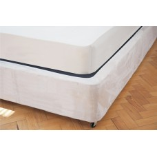 Belledorm Luxury Suede Divan Base Wrap Linen