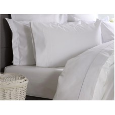Belledorm New 1000 Thread Count Ultralux Cotton Rich White Flat Sheets