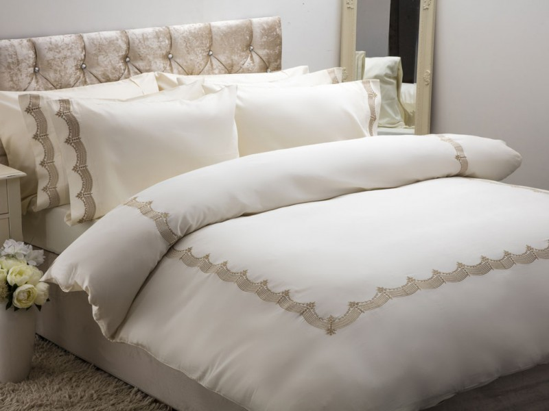 Maison Blanche New Annaya Gold Embroidered Duvet Cover Sets