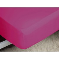 Belledorm 200 Thread Count Easy Care Fuchsia Fitted Sheets