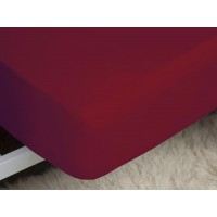 Belledorm 200 Thread Count Easy Care Red Fitted Sheets
