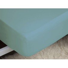 Belledorm 200 Thread Count Easy Care Teal Fitted Sheets