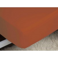 Belledorm 200 Thread Count Easy Care Terracotta Fitted Sheets