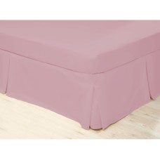 Belledorm 200 Thread Count Easy Care Blush Pleated Platform Valances
