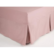 Belledorm 200 Thread Count Easy Care Blush Fitted Sheet Valance