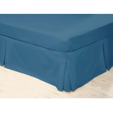 Belledorm 200 Thread Count Easy Care Cobalt Pleated Platform Valances