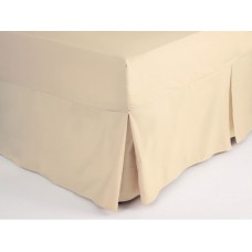Belledorm 200 Thread Count Easy Care Cream Fitted Sheet Valance