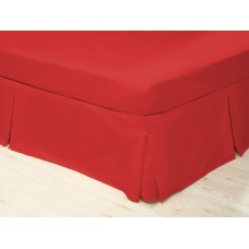 Belledorm 200 Thread Count Easy Care Red Pleated Platform Valances
