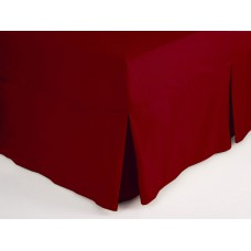 Belledorm 200 Thread Count Easy Care Red Fitted Sheet Valance