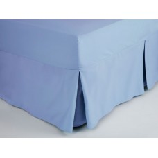 Belledorm 200 Thread Count Easy Care Sky Blue Fitted Sheet Valance