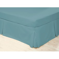 Belledorm 200 Thread Count Easy Care Teal Pleated Platform Valances
