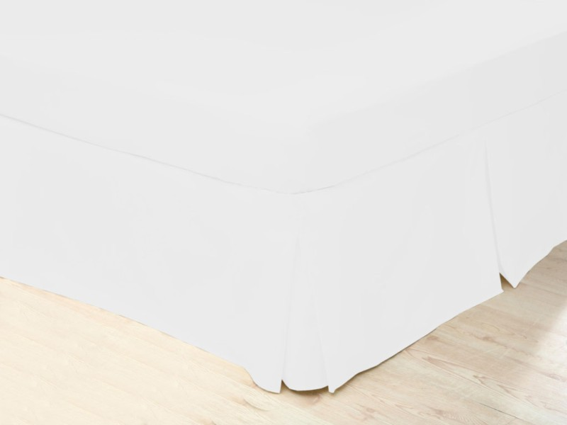 Belledorm 200 Thread Count Easy Care White Pleated Platform Valances