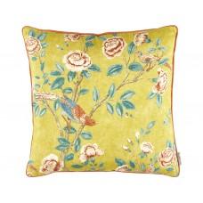 Sanderson Caspian Andhara Saffron/Teal Cushion