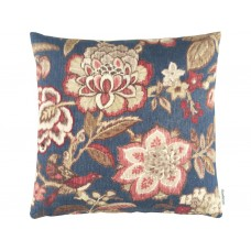 Sanderson Caspian Indra Flower Indigo/Cherry Cushion