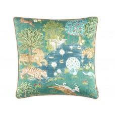 Sanderson Caspian Pamir Garden Teal Cushion