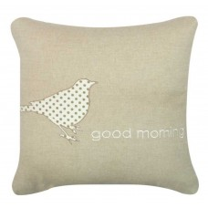 CIMC home Beige And White Good Morning Cushion