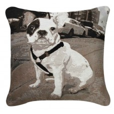 CIMC home Black and White French Pug Cushion