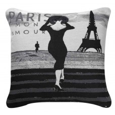 CIMC home Black and White Paris Cushion