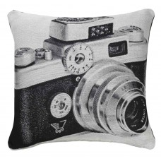 CIMC home Black and White Retro Camera Cushion