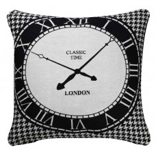 CIMC home Black and White Clock Cushion