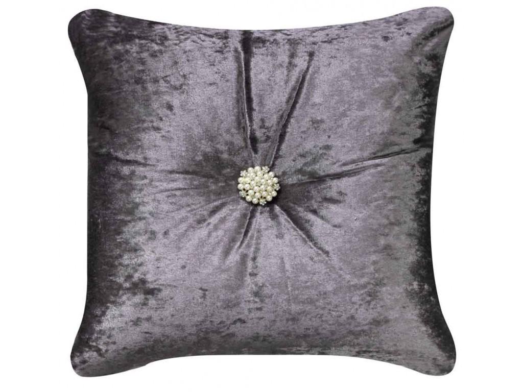 CIMC Home Lavender Crushed Velvet Diamante Cushion