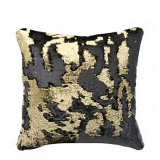 CIMC home Black and Gold Two Tone Sequin Siren Large Cushion