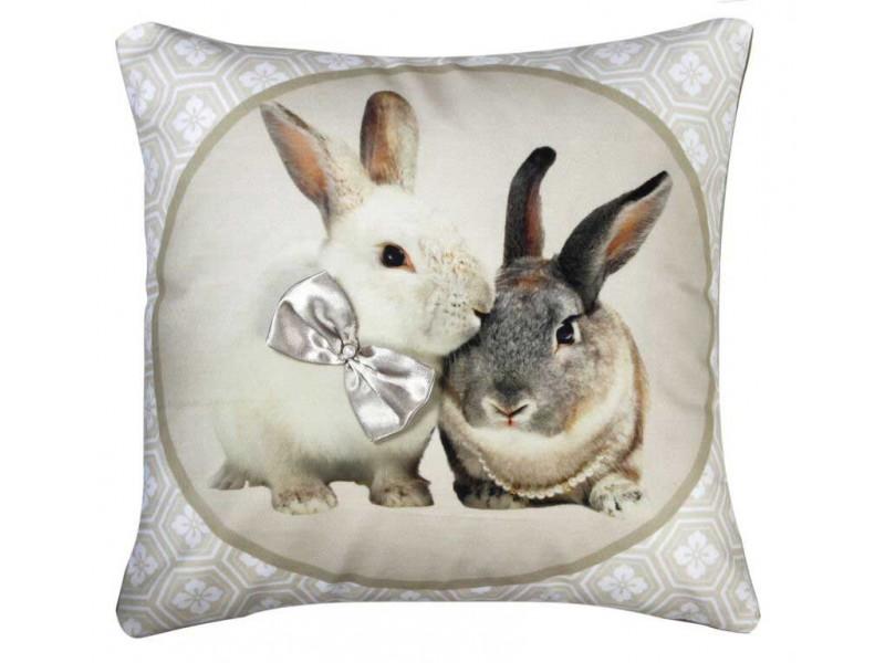 CIMC home Natural Cream Bunnies Cushion