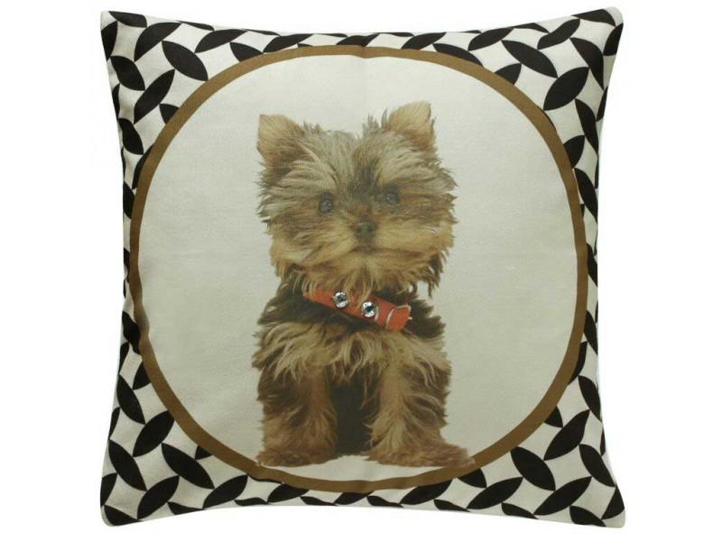 CIMC home Brown Yorkie Terrier Cushion